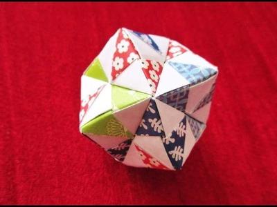 Como hacer POLIEDRO de papel? Papeleo hermosa KUSUDAMA  Origami #5