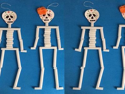 Como hacer un esqueleto, , Halloween decorations. Decoraciones para día de muertos. Esqueleto.