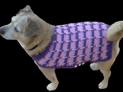 Como hacer un jersey  para perro 2 ª parte tutorial