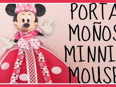 COMO HACER UN PORTA MOÑOS MINNIE MOUSE CON FALDA TUTU | HOW TO TUTU BOW HOLDER | DRESS