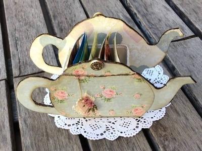 Cómo hacer una caja de té en forma de tetera reciclando cartón