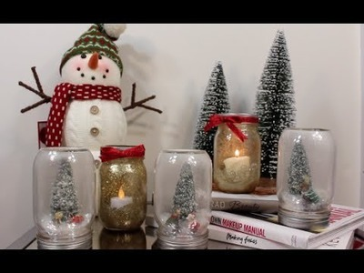 DIY Candle and Christmas Snowball (Velas y Bolas de Nieve Navideñas)