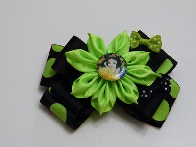 Flores Elegantes Doble color para centro de lazos, Flores fáciles listón, #530