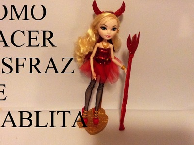 HAZ DISFRAZ DE DIABLITA PARA TUS MUÑECAS BARBIE, EVER AFTER Y MONSTER HIGH