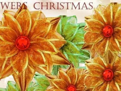 Haz flores de navidad y lindas y fáciles decoraciones