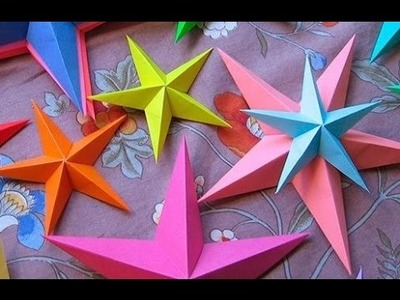 Origami de estrellas del mar - como hacer un estrella de papel (papiroflexia)