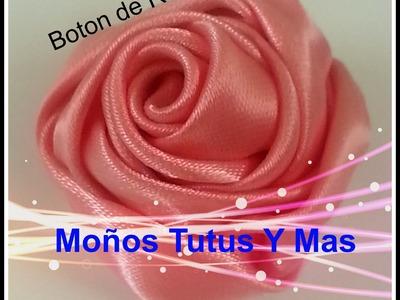 Paso a Paso BOTON DE ROSA Satinada pap RIBBON ROSE BUD Tutorial DIY Cinta Satin