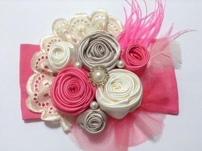 Tiara de botón de rosas  VIDEO No. 326