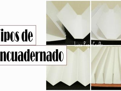 TIPOS DE ENCUADERNACIÓN para álbumes SCRAPBOOK | Luisa PaperCrafts