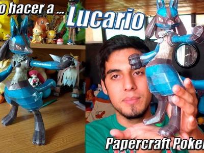 Tutorial ★ Como hacer a Lucario - Pokemon Papercraft