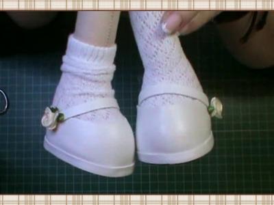 Tutorial muñeca de comunión: Calcetines y zapatos