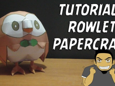 Tutorial - Rowlet Papercraft (Pokemon Sun & Moon #2)