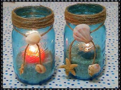Vasijitas de mar (decoración para el hogar) manualidades