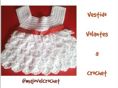 Vestido volantes niña a crochet 1ª parte