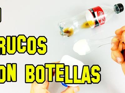 10 Trucos Con Botellas de Plástico o Life Hacks - Experimentos Caseros