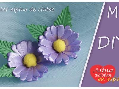 Aster alpino de cintas . DIY Alina Boloban