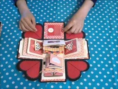 Caja explosiva. exploding box.  scrapbook (inspiracion )