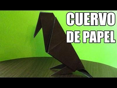 Como hacer animales de papel | CUERVO DE PAPEL origamis paso a paso (Muy fácil)