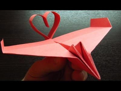 Como hacer un COLA DE CORAZON con TURBOS | Aviones de papel paso a paso (Muy fácil)