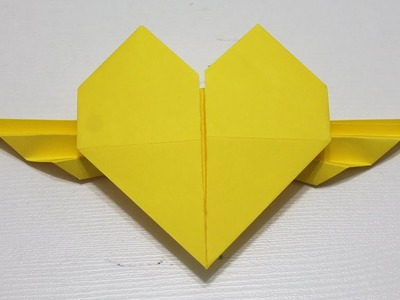 Como hacer un corazon con alas de papel