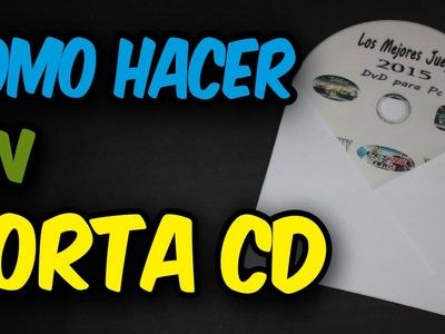 Como Hacer Un Estuche Case o Porta CD,DVD O BLU RAY de Papel CASERO