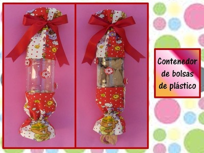 ♥CONTENEDOR DE BOLSAS PLASTICAS♥ Reciclando botella de plástico- ♥CREACIONES mágicas♥
