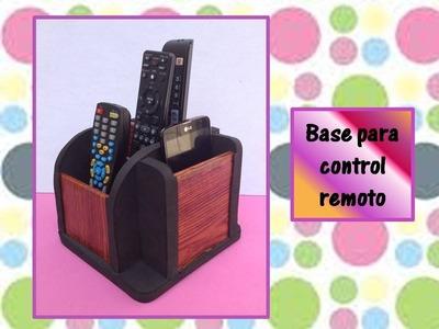 ♥♥IDEAS PARA REGALAR A PAPA♥♥- Base para control remoto y celulares♥♥- ♥♥CREACIONES mágicas♥♥