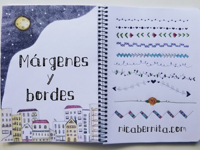 MÁRGENES para cuadernos y BORDES para cartas. Nuevas ideas para decorar apuntes (Nica Bernita)