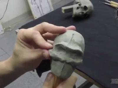 Modelado de un cráneo en plasticera parte 2