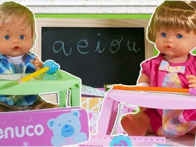 Nenuco Hermanitos al Cole - Nenuco juguetes en español - Peppa pig cuenta un cuento a Nenuco