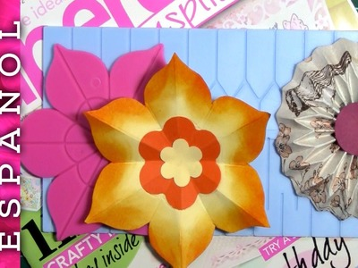 Probando tableros de hacer rosetas-Papercraft inspirations review