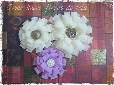 Como hacer flores de tela faciles y bonitas