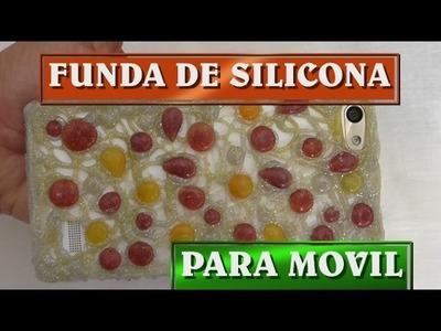 Como hacer fundas de silicona de gotitas para movil - COVER FOR THE MOBILE WITH DROPLETS OF SILICONE