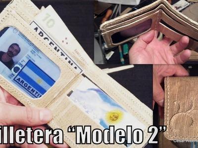 """Cómo hacer una billetera? Modelo 2  """"El Rincón del Soguero"""""""