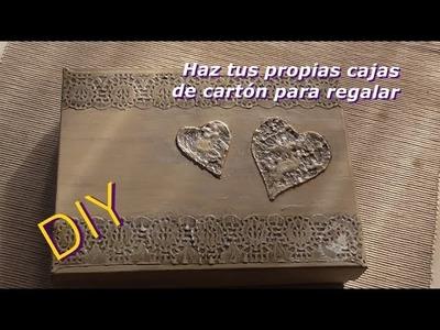 Cómo reciclar una caja de cartón de manera MUY sencilla