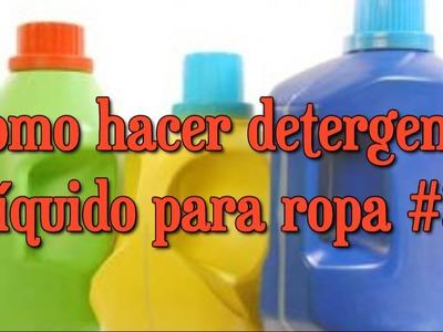 Detergente líquido para ropa #3 RINDE 34 LITROS