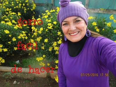 GORRO FÁCIL DE HACER (ropa)  Luz Mireya Martínez