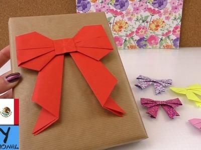 Lazo de origami - Cómo hacer - origami facil (en español paso a paso)