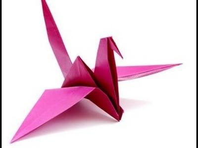 Origami Grúlla  - como hacer grulla de papel (papiroflexia)