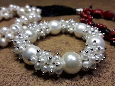 Pulsera de Perlas en un modelo sutil y atractivo. .Clase#11
