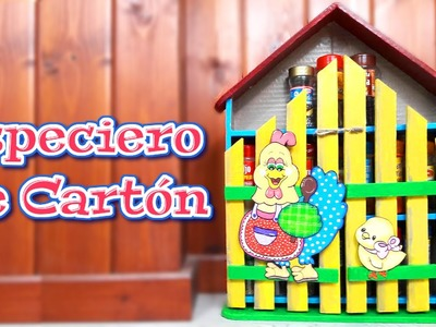 TUTORIAL ESPECIERO DE CARTON PINTURA COUNTRY - Isa ❤️