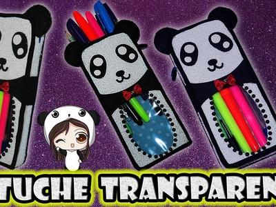 ♥ Tutorial: Estuche Panda Transparente para Regreso a Clases + MegaSorteo CERRADO ♥