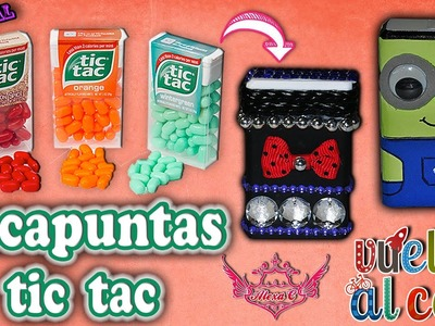 ♥ Tutorial: Sacapuntas reciclando cajas de tic tac || Vuelta al Cole || Back to School♥