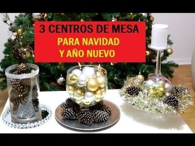 3 CENTROS DE MESA PARA NAVIDAD Y AÑO NUEVO (FACILES)| Ale Pro Makeup96