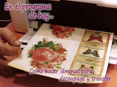 COMO HACER LAMINAS DECOUPAGE Y TRANSFER 1.2