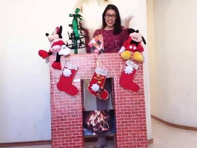 Como hacer una chimenea para navidad de forma fácil