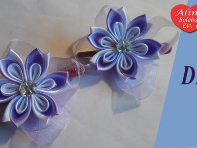 Horquillas Kanzashi para princesa. Video tutorial