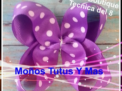 Moño Boutique METODO DEL 8 Paso a Paso BOUTIQUE HAIR BOW Tutorial DIY How To PAP