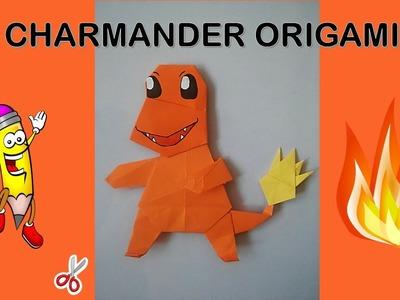 Pokemon Origami Easy CHARMANDER , como hacer origami de papel