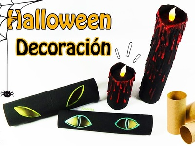 230. Manualidades para Halloween: Decoración con tubos de cartón (Colab. con DecoAndCrafts) Ecobrisa